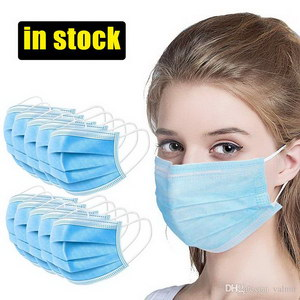 Disposable Profession Protective Mask 3-Ply Nonwoven Facial Cover Dust Mask Anti-COVID-19 Anti Bacterial Virus Safety Mask